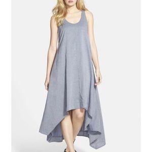Eileen Fisher Chambray Hi Low Organic Cotton Dress